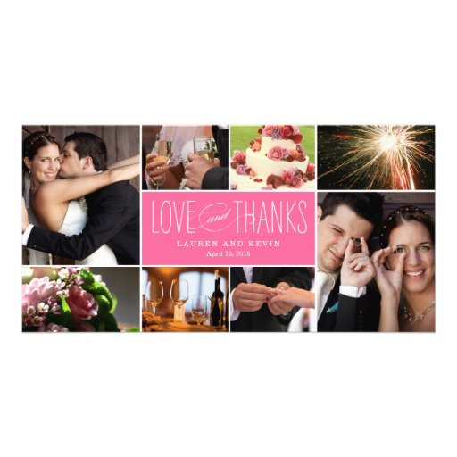 Sweet Memories Wedding Thank You Photo Cards Photo Cards