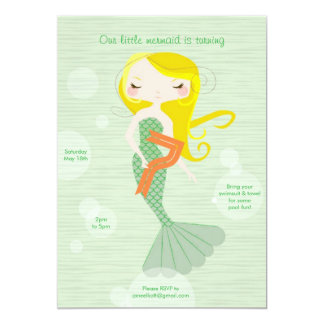 Sweet Mermaid - Age 7 Card