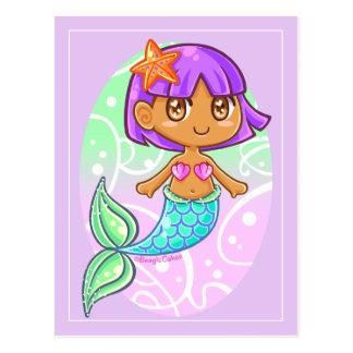 Sweet Mermaid Girl Postcard
