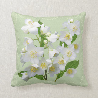 Sweet mock-orange floral pillow