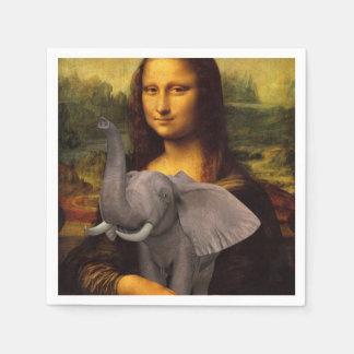 Sweet Mona Lisa Loves Elephant Disposable Serviette