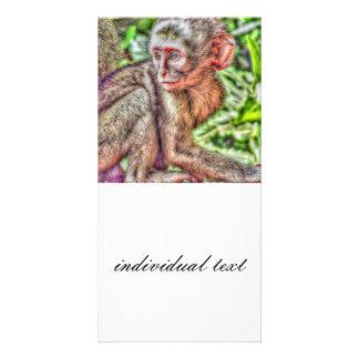 sweet monkey customised photo card
