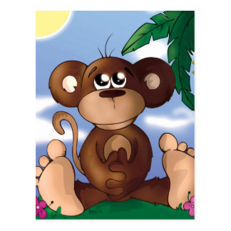 Sweet Monkey Postcard