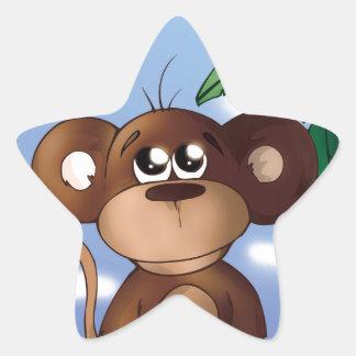Sweet Monkey Star Sticker