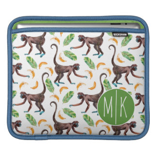 Sweet Monkeys Juggling Bananas | Monogram Sleeve For iPads