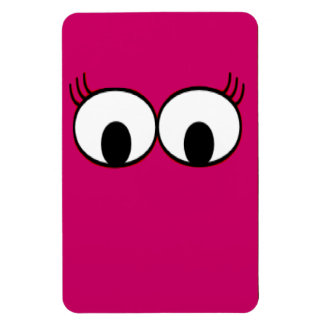 Sweet Monster Eyes On A Hot Pink Background Magnet