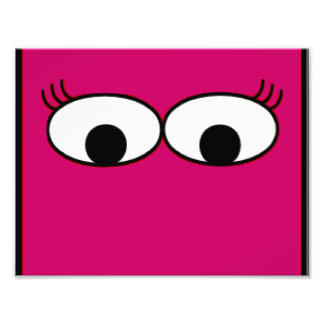 Sweet Monster Eyes On A Hot Pink Background Photo Art