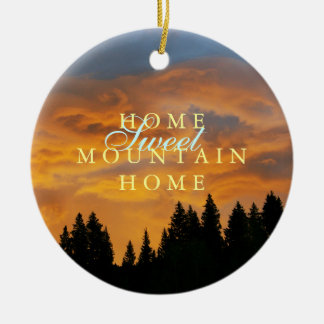 Sweet Mountain Home Rustic Christmas Ceramic Ornament