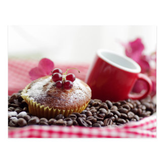 Sweet Muffin and fine coffee Postcard