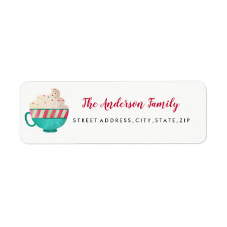 Sweet Mug Christmas Return Address Label