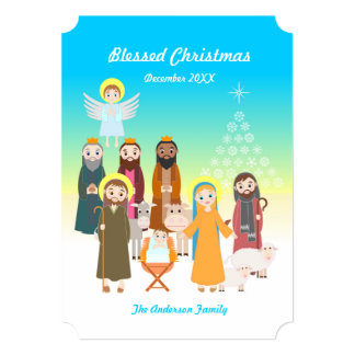 Sweet Nativity Scene for Kids Invitation