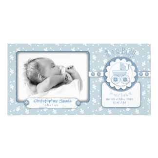 Sweet One Boy Photo Card