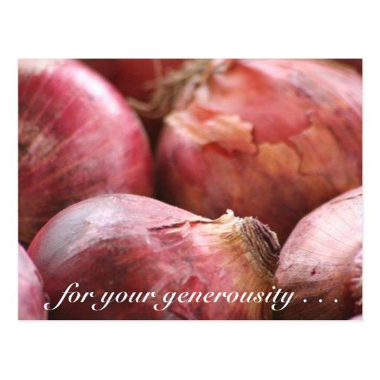 Sweet Onions postcard