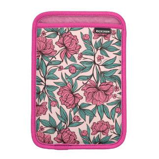 Sweet orange pink floral hand drawn illustration iPad mini sleeves