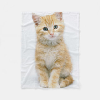 Sweet Orange Tabby Fleece Blanket