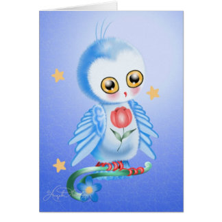 Sweet Owl Blue Postcards, Cards
