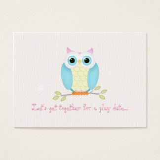 Sweet Owl Play Date Cards