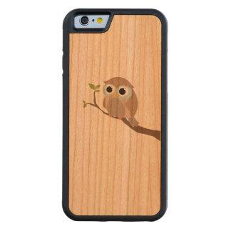 sweet owl prints on on wood cherry iPhone 6 bumper