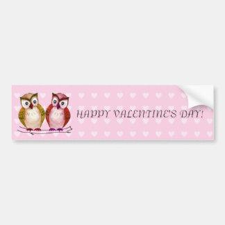 Sweet owls car bumper sticker