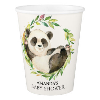 Sweet Panda Bear Baby Shower Paper Cup