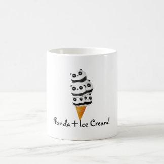 Sweet Panda Bear Ice Cream Cone Coffee Mug