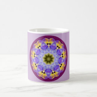 Sweet Pansy Fractal Coffee Mug