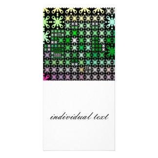 sweet pattern 05 green custom photo card