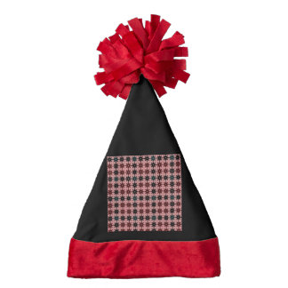 sweet pattern 09 stars red santa hat