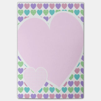 Sweet Pattern Hearts Post-it Notes