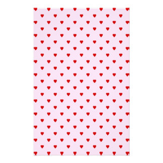 Sweet pattern of red hearts on pink. 14 cm x 21.5 cm flyer