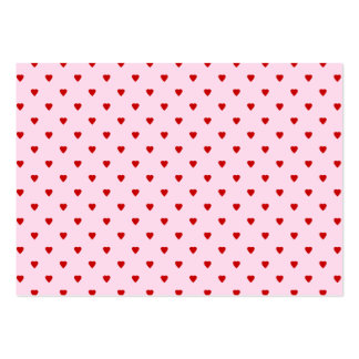 Sweet pattern of red hearts on pink. business card template
