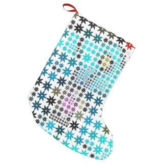 sweet pattern, stars 04 small christmas stocking