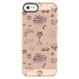 Sweet pattern with various desserts. clear iPhone SE/5/5s case