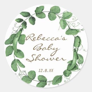 sweet pea baby shower sticker peas in a pod