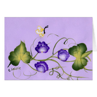 Sweet Pea Blossom and Butterfly Card
