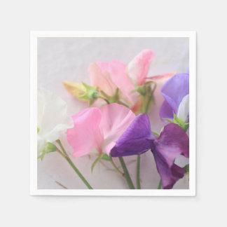 Sweet pea bouquet paper serviettes
