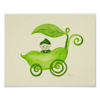 Sweet Pea Boy art poster print