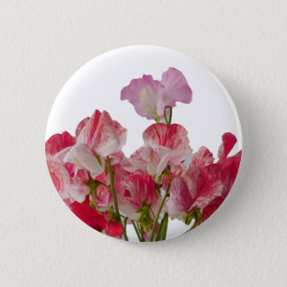 Sweet Pea Flowers Button