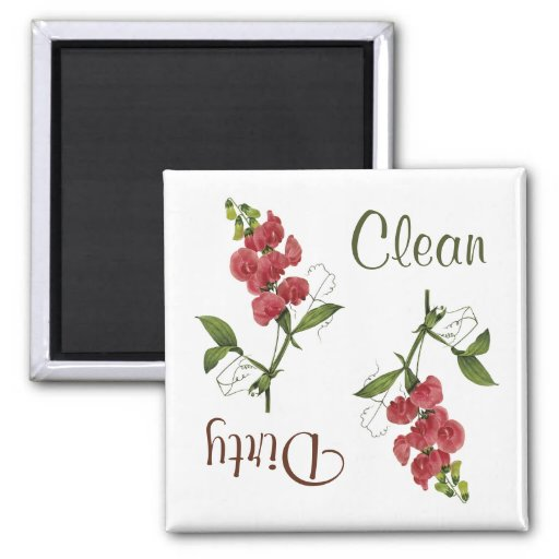 Sweet Pea Flowers Dishwasher Magnet