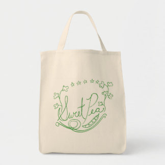 Sweet Pea Grocery Bag