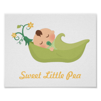 Sweet Pea in a Pod Baby Boy Nursery Room Decor