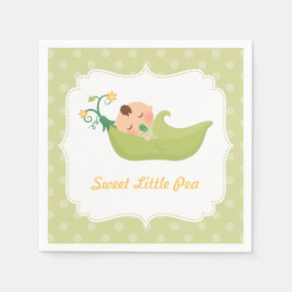 Sweet Pea in a Pod Boy Baby Shower Party Supplies Disposable Napkins