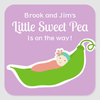 Sweet Pea in a Pod (Purple) Stickers