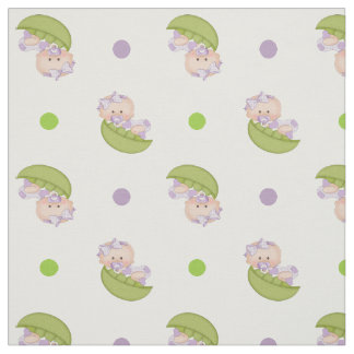 Sweet pea in the pod baby girl & polka dots cute fabric