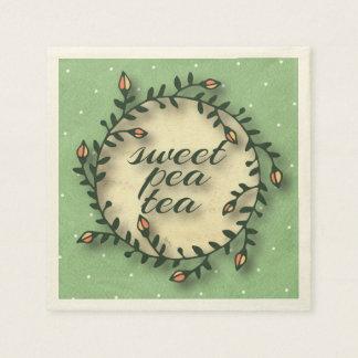 Sweet Pea Tea Birthday –Green Polka-Dot Paper Napkin