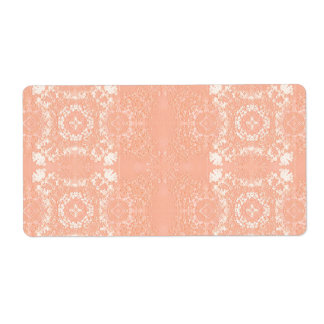 Sweet Peach Muted Vintage Lace Theme Shipping Label