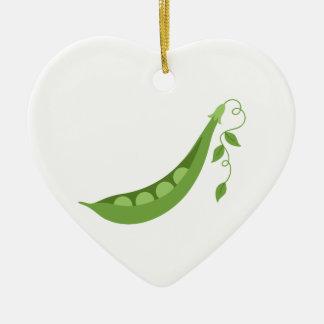 Sweet Peas Ceramic Ornament