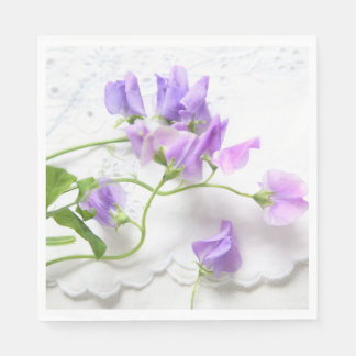 Sweet peas disposable serviettes