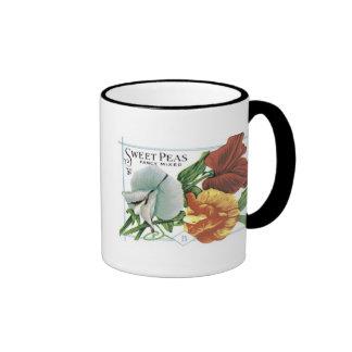 Sweet Peas, Fancy Mixed Coffee Mugs