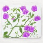 Sweet Peas in Purple Mousepad